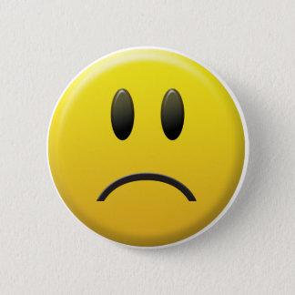 悲しいスマイリーフェイス 5.7CM 丸型バッジ