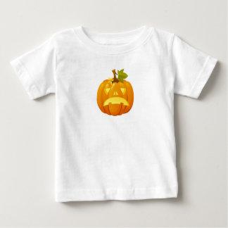 悲しいハロウィーンのカボチャのちょうちん ベビーTシャツ