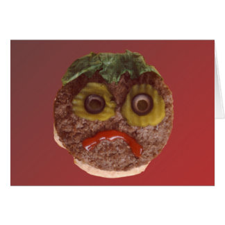 悲しいハンバーガー カード