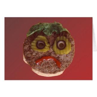 悲しいハンバーガー グリーティングカード
