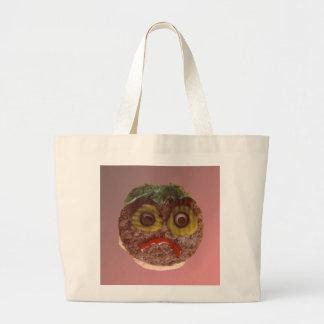 悲しいハンバーガー ラージトートバッグ