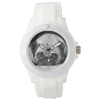 悲しいパグ 腕時計