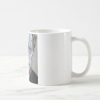 悲しいピエロの恐いピエロの顔の絵画 コーヒーマグカップ