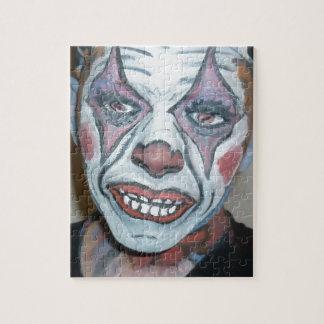悲しいピエロの恐いピエロの顔の絵画 ジグソーパズル