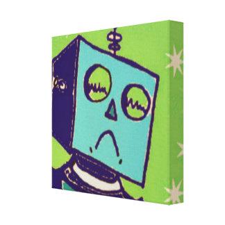 悲しいロボットキャンバスプリント キャンバスプリント