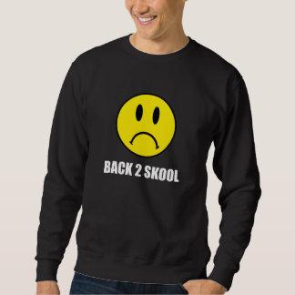 悲しい背部2学校 スウェットシャツ