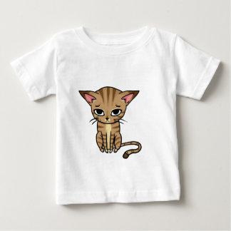 悲しい虎猫猫の子ネコ ベビーTシャツ