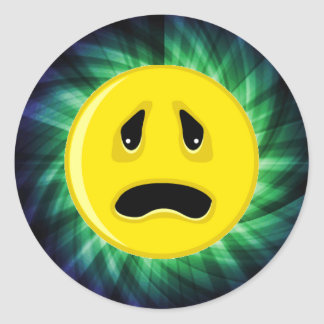 悲しい顔; 緑 ラウンドシール