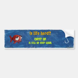 悲しい魚-生命は懸命ですか。 バンパーステッカー