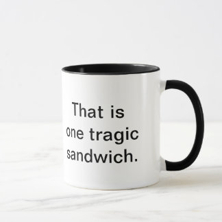 悲劇的なサンドイッチ: Muggening マグカップ