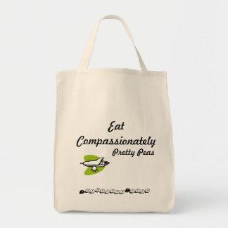 情け深くかわいらしいエンドウ豆を食べて下さい トートバッグ