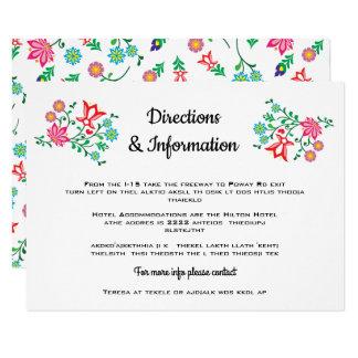 情報を結婚する民芸の花のメキシコフェスタ カード