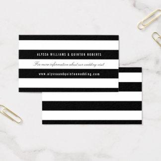 情報挿入物を結婚するはっきりしたな黒のストライプ 名刺