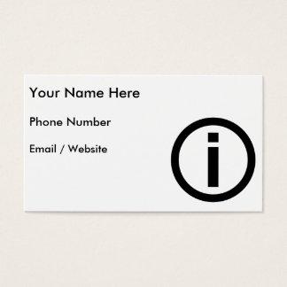 情報記号-観光事業 名刺