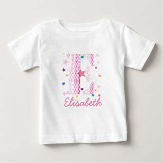 情報通および粋でカスタムなピンクのGirltyの名前のイニシャルLe ベビーTシャツ