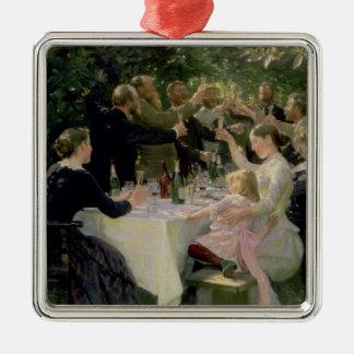 情報通のお尻万歳! Skagen 1888年の芸術家のパーティー メタルオーナメント