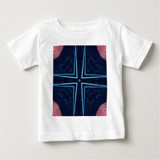 情報通のトレンディーの抽象芸術の星の十字パターン ベビーTシャツ