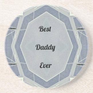 """情報通のモダンな灰色の""""最も最高のなお父さん"""" コースター"""