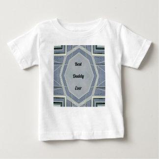 """情報通のモダンな灰色の""""最も最高のなお父さん"""" ベビーTシャツ"""