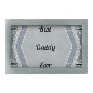 """情報通のモダンな灰色の""""最も最高のなお父さん"""" 長方形ベルトバックル"""