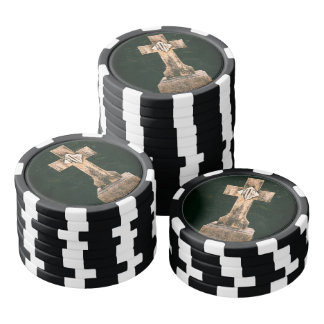 情報通の墓地の十字 ポーカーチップ