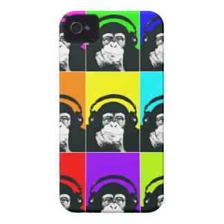 情報通の猿のポップアートの電話箱 Case-Mate iPhone 4 ケース