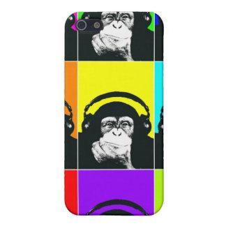 情報通の猿のポップアートの電話箱 iPhone SE/5/5sケース