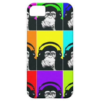 情報通の猿のポップアートの電話箱 iPhone SE/5/5s ケース