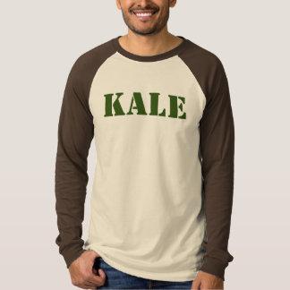 情報通の緑葉カンランのRaglanの長袖の軍隊のステンシルティー Tシャツ
