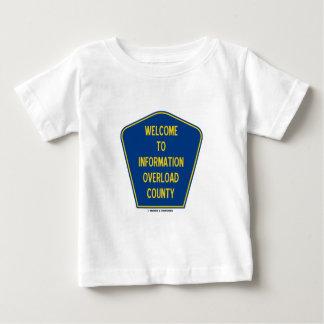 情報過負荷郡(印)への歓迎 ベビーTシャツ