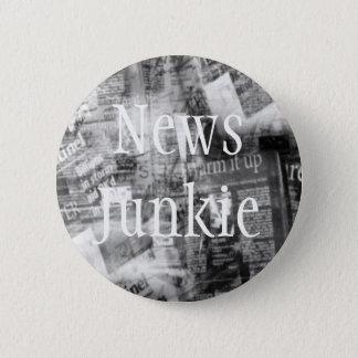 情報麻薬常習者のカスタマイズ可能なボタン 5.7CM 丸型バッジ