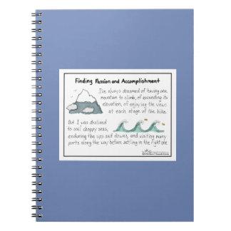 情熱および業積の青のノートを見つけること ノートブック
