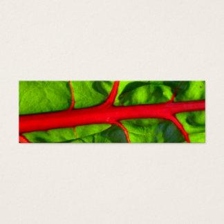 情熱のための赤および希望のための緑はしおり スキニー名刺