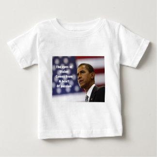 情熱のバラック・オバマのハート ベビーTシャツ