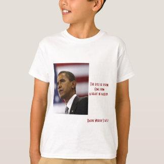 情熱のバラック・オバマのハート Tシャツ