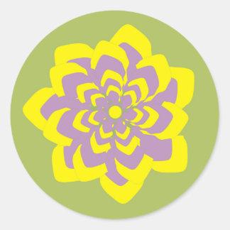 情熱の花 ラウンドシール