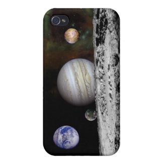 惑星およびジュピターの月のモンタージュ iPhone 4/4Sケース