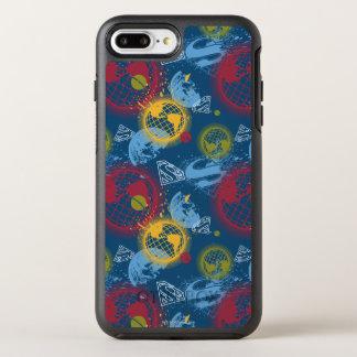 惑星およびロゴパターン オッターボックスシンメトリーiPhone 8 PLUS/7 PLUSケース
