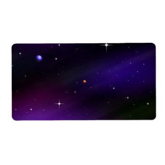 惑星および星とのSpacescape ラベル