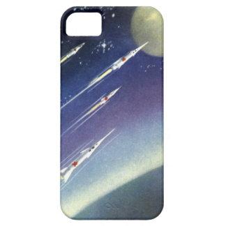 惑星による宇宙のヴィンテージの空想科学小説ロケット iPhone SE/5/5s ケース