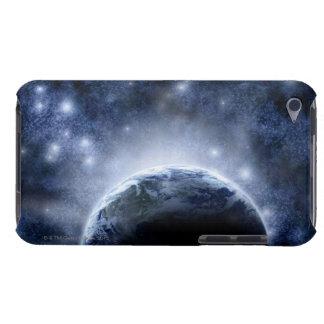 惑星のまわりの星のエアブラシで描かれた夜空十分に Case-Mate iPod TOUCH ケース