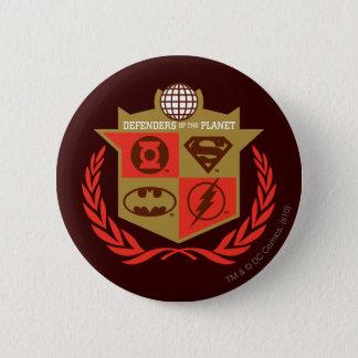 惑星のジャスティス・リーグの擁護者 5.7CM 丸型バッジ