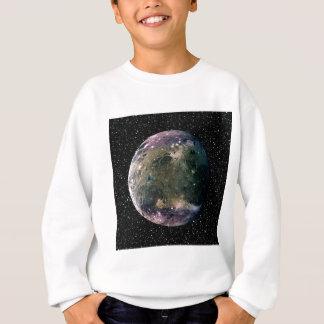 惑星のジュピターの月GANYMEDEの星の背景の~ スウェットシャツ