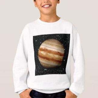惑星のジュピターv.4の星の背景(太陽系) スウェットシャツ