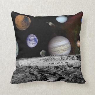 惑星のスカイラインの装飾用クッション クッション