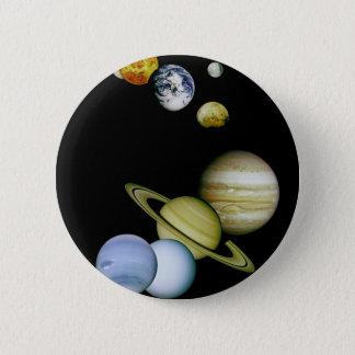 惑星のパノラマ 5.7CM 丸型バッジ