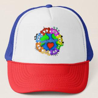 惑星のピーカーブ式ロゴの帽子 キャップ