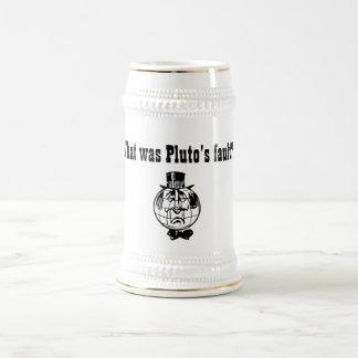 惑星のプルートのマグ ビールジョッキ
