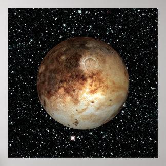 惑星のプルートの星の背景(太陽系)の~ ポスター