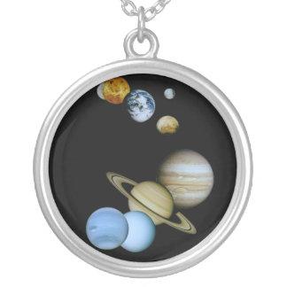 惑星のモンタージュ シルバープレートネックレス